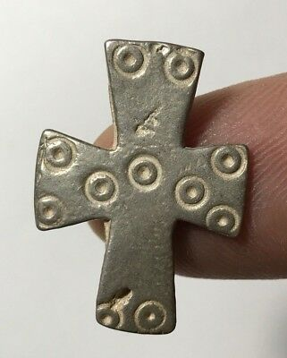 VINTAGE SOLID SILVER CROSS VERY NICE 5.9gr 29.0mm
