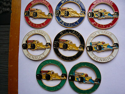 lot 8 big pin s f 1 williams renault 4 cm different neuf