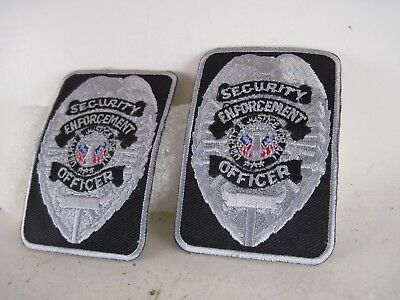 Security  Enforcement Officer     Patch lot of 2