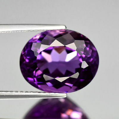 14x12mm OVAL-FACET DEEP-PURPLE NATURAL AFRICAN AMETHYST GEMSTONE