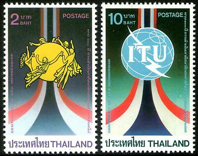 Thailand 1985 UPU and ITU set of 2 Mint Unhinged