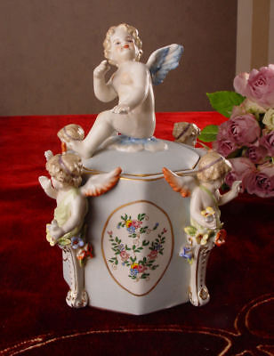 Historical Covered Dish Baroque Style with Angel Porcelain
