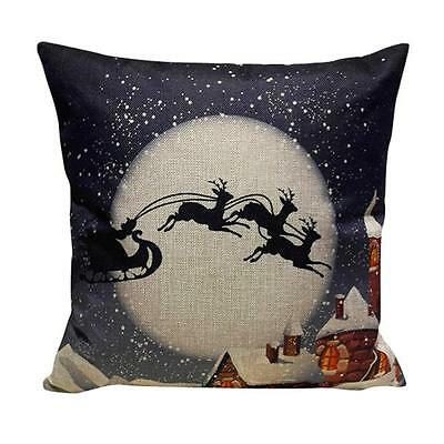 Christmas Sofa Bed Home Decoration Festival Pillow Case Cushion Cover 2017