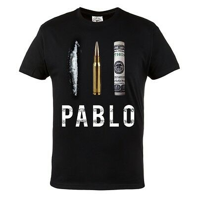 T-Shirt Pablo Escobar Narcos  100% Cotton Black Casual Wears