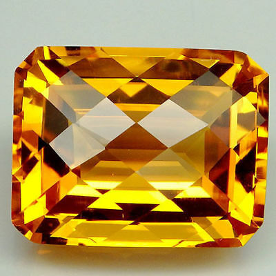 17x15mm OCTAGON-FACET CHECKER-CUT NATURAL BRAZILIAN GOLDEN CITRINE (APP £602)