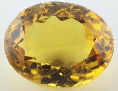 15.5x12.5mm OVAL-FACET NATURAL BRAZILIAN GOLDEN CITRINE GEMSTONE (APP £180)