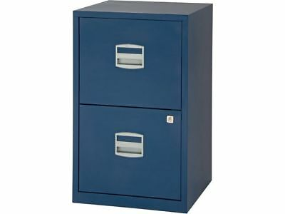 Bisley Filing Cabinet Prussian Blue A4 2 Drawer - Brand New