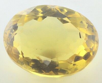 UNUSUAL 16x12.5mm OVAL-FACET NATURAL AFRICAN GOLDEN CITRINE GEMSTONE (APP £79)