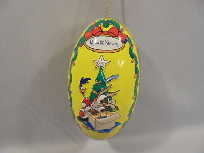 """Looney Tunes-Drolliges Ei-Ornament """"ROAD RUNNER & WILLE E COYOTE""""1997"""