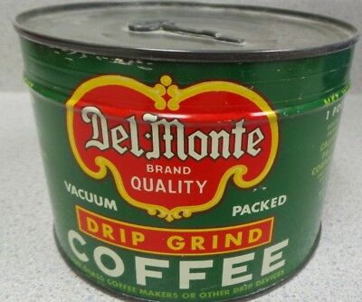 Vintage Del Monte One Pound Coffee Can Unopened