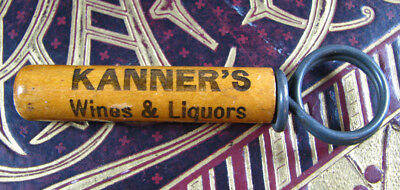 Pre-Pro old KANNER'S WINES & LIQUORS metal and wood Corkscrew LACKAWANNA phone #