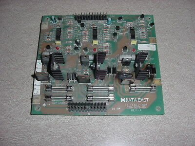 Data East / Sega Pinball, 3 Flipper Board 520-5076-00 Tested Working!