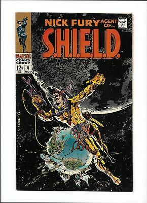 Nick Fury, Agent Of Shield #6 [1968 Vg-Fn] Steranko Cover!