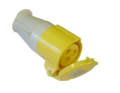 110V 16A Coupling Socket Amp Volt Convert Electric Hook Up Yellow Site