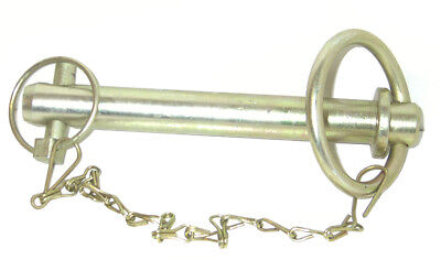 "7/8"" x 6"" Tow Hitch Pin With Linch Pin & Chain Drop Handle Trailer Tractor New"