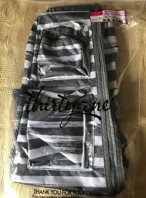 Thirty-One 31  Sling Back  Bag NEW Grey Brush Strokes