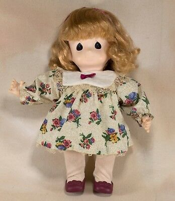 "Precious Moments Vinyl and Cloth Girl Doll 12"" 1995"