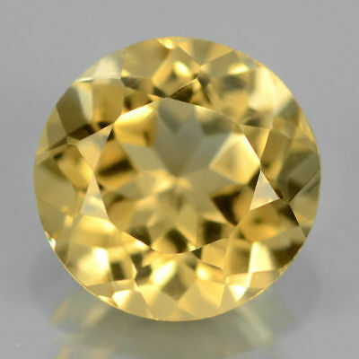 LARGE 15mm ROUND-FACET NATURAL BRAZILIAN LEMON CITRINE GEMSTONE (APP £144)