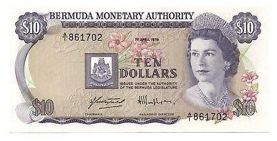 Bermuda $10 April 1,1978 Crisp Uncirculated, P-30