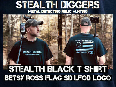 Stealth Diggers Hoodie in Gray Classic LFOD logo Metal Detecting relic hunting