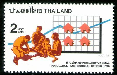 Thailand 1990 2Bt Population and Housing Census Mint Unhinged