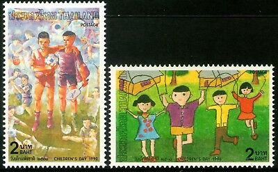 Thailand 1990 Children's Day set of 2 Mint Unhinged