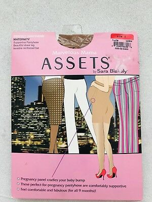 ASSETS Marvelous Mama Support Pantyhose  Sara Blakely Spanx Women's Size 1 NUDE