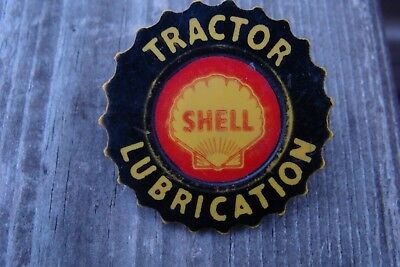 Vintage Shell Oil Tractor Lubrication Badge