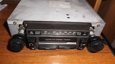 Classic Sanyo car Radio/Cassette, 12v, neg., earth with MW/UKW working see text.