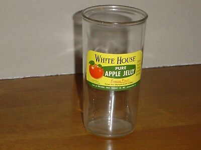 White House Vinegar Pure Apple Jelly Glass Famous Flavors 12 Ounce