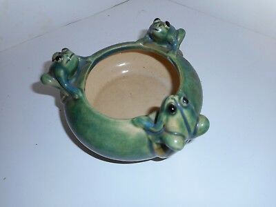 Small Frog Pottery Planter