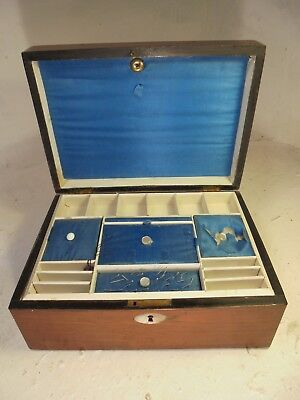 Antique Rosewood Sewing Box   ref 4312
