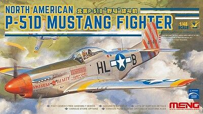 MENG MODEL LS-006 North American P-51D Mustang Fighter in 1:48