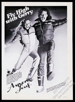 1979 Gerry ski jacket pants moon boots photo Aspen Leaf store vintage print ad