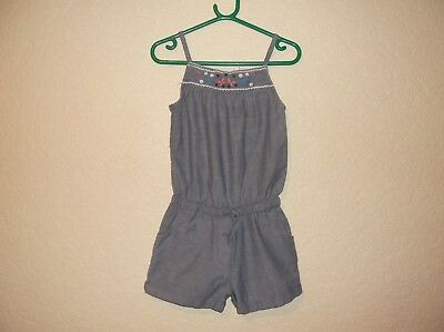 girls blue shorts playsuit,age 6-7 years,by Fat Face.