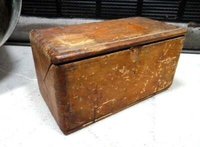 1889 antique SINGER WOOD SEWING MACHINE ACCESSORY BOX primitive,folding,trick