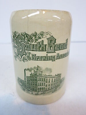 Pre Prohibition Mettlach Beer Stein Mug 3/10L 1909 South Bend Brewing Assn