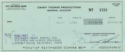 Danny Thomas- Signed Bank Check from 1973