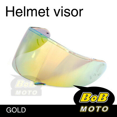 Gold Tinted Shield Helmet Visor Fit GT AIR Shoei Neotec GT-Air