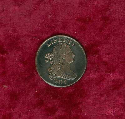 1804 Half Cent in Extra Fine--Plain 4 & No Stems