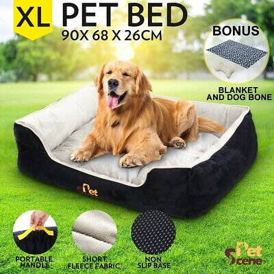 Pet Bed Mattress Deluxe Soft Washable Dog Pad Mat Cushion Extra Large