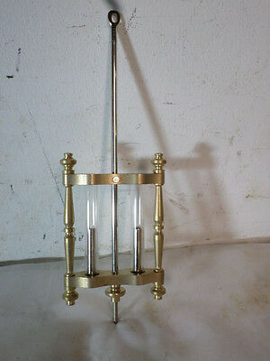 "Simulated 5 1/2"" Two Vial Mercury Pendulum for Crystal Regulator Clocks"