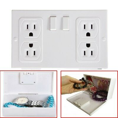 Secret Wall Outlet Socket Security Safe Secret Money Jewelry Box Hide Case Stash