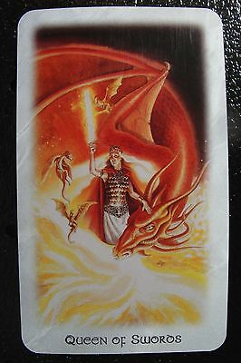 Queen of Swords The Celtic Dragon Tarot Single Replacement Card Excellent