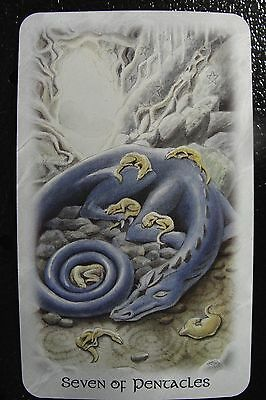 Seven of Pentacles Celtic Dragon Tarot Single Replacement Card Excellent