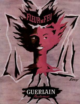 1951 ORIGINAL FRENCH VINTAGE ADVERT / PRINT Guerlain Perfume Ad by DARCY (236)