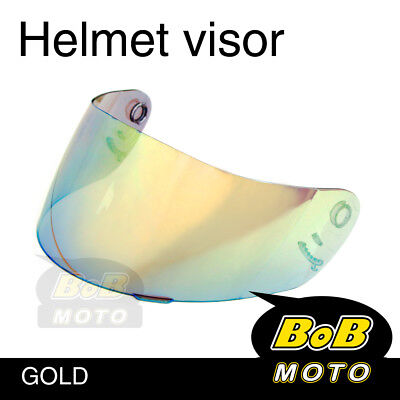 Gold Tinted Shield Helmet Visor Fit Shoei Multitec X-Eleven RAID 2 II TZ-R