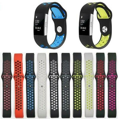 UK Sports Silicone Watchband Strap Bracelet Replacement For Fitbit Charge2 Watch