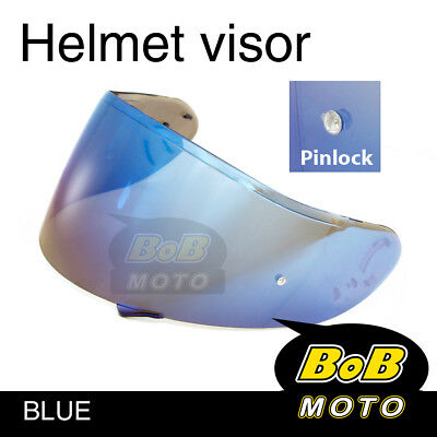 Blue Tinted Shield Helmet Visor Pinlock Fit GT AIR Shoei Neotec GT-Air