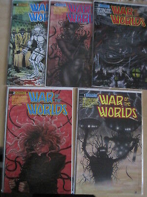 WAR of the WORLDS : COMPLETE 5 ISSUE 1988 SERIES by ETERNITY COMICS. H G WELLS